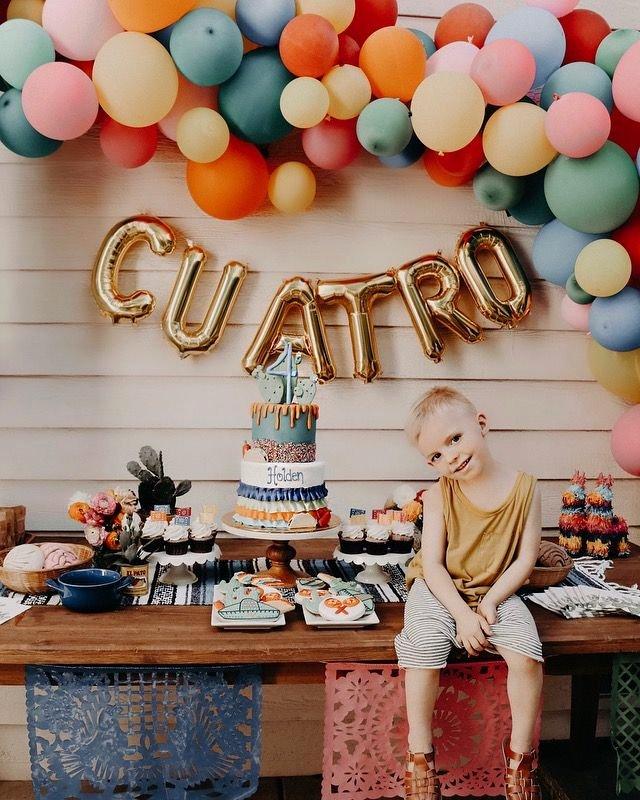 4th Birthday Decoration Ideas for Boy New Birthday Party Ideas Fiesta Fourth Birthday Balloon Arch