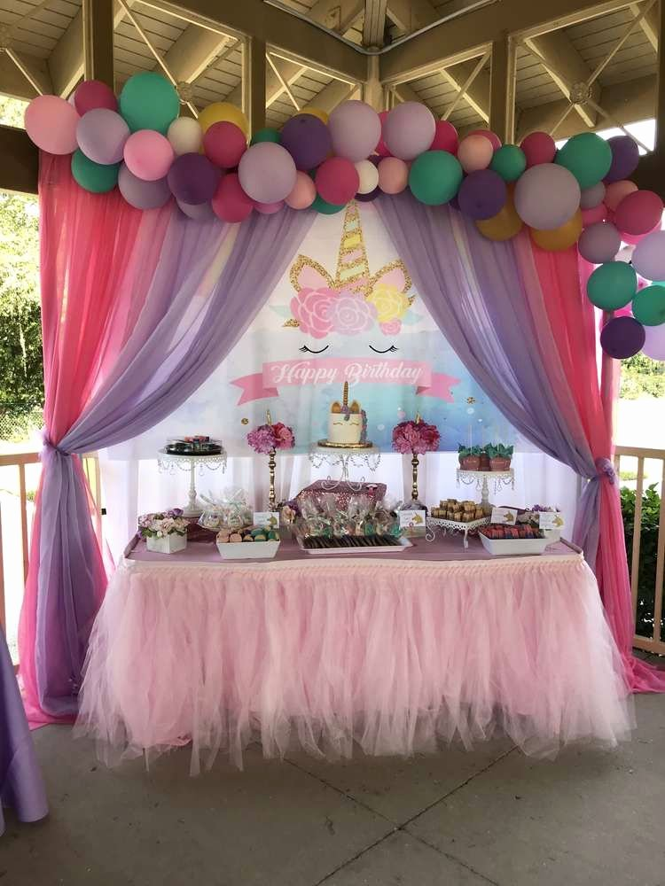 4th Birthday Decoration Ideas Unique Unicorns Birthday Party Ideas