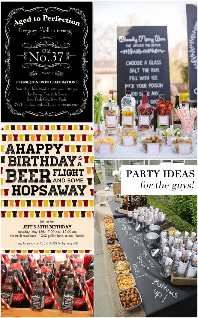 50 Birthday Decoration Ideas for Him New Adult Birthday Party Ideas for the Guys