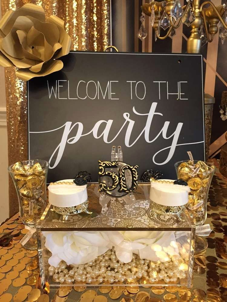 50 Year Birthday Decoration Ideas Luxury Great Gatsby Birthday Party Ideas 2 Of 22