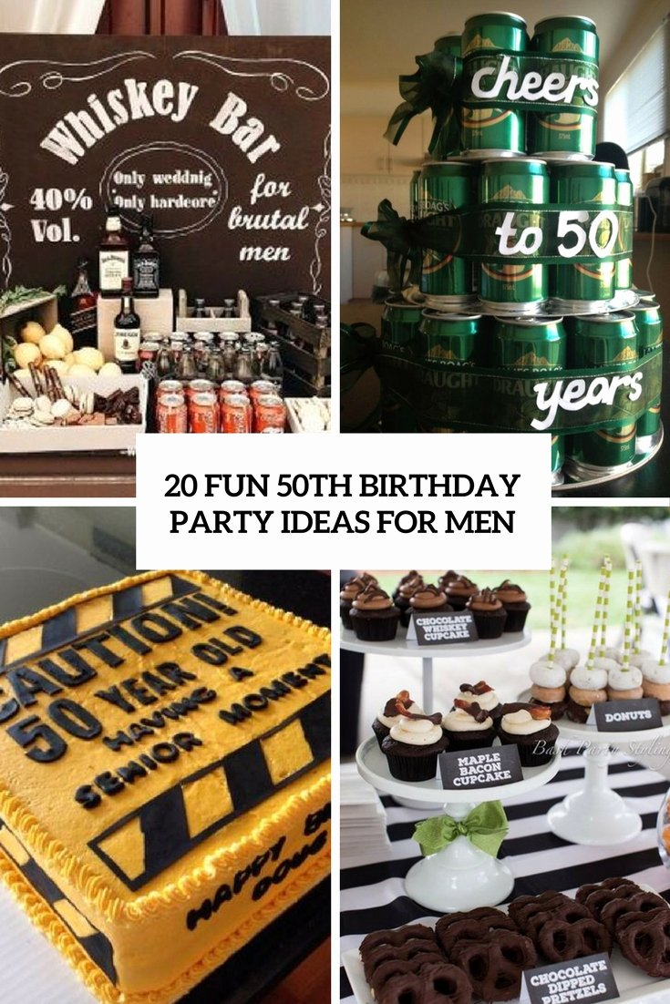 50 Year Old Birthday Decoration Ideas New 20 Fun 50th Birthday Party Ideas for Men Shelterness