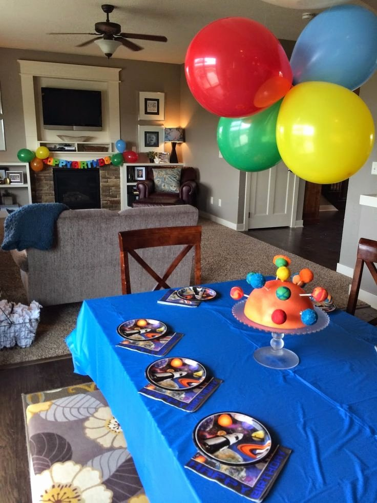 5th Birthday Decoration Ideas at Home Awesome Blast F to Space 5th Birthday
