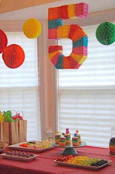 5th Birthday Decoration Ideas at Home Awesome Rainbow Spa Birthday Party Ideas for Girls Happy 5th