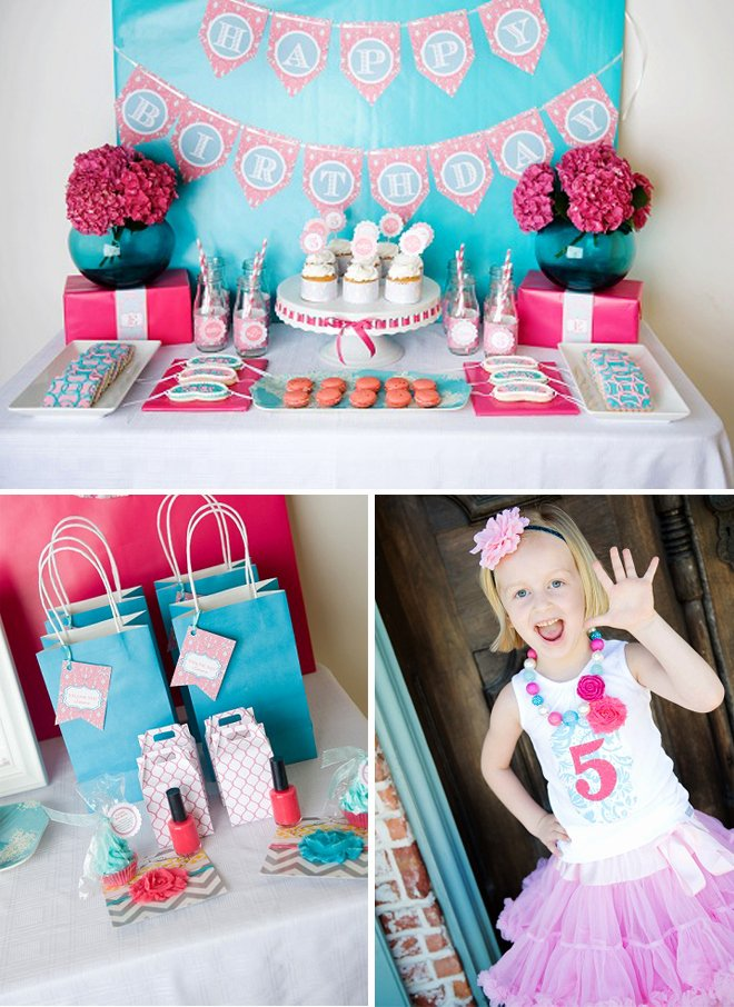 5th Birthday Decoration Ideas at Home Beautiful Darling Spa themed 5th Birthday Party