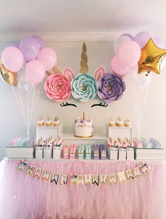 5th Birthday Decoration Ideas at Home Inspirational Unicorn Party Paper Flower Backdrop Nursery Wall Decor