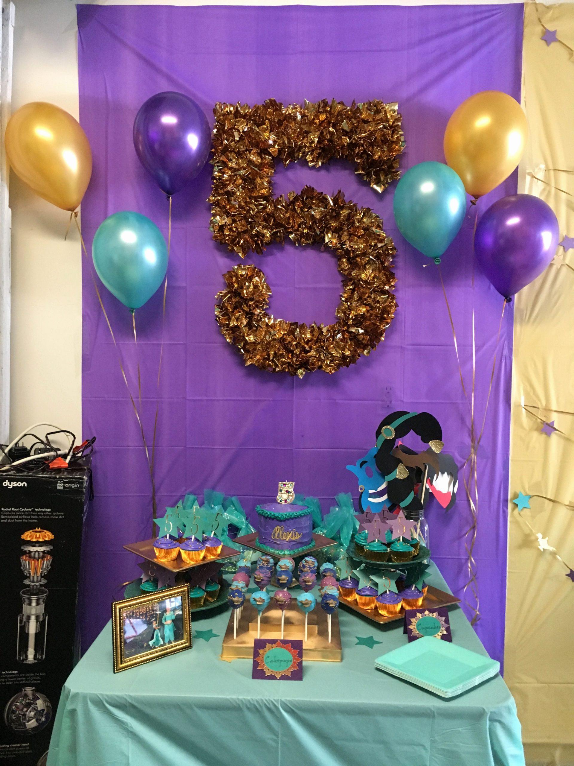 5th Birthday Decoration Ideas at Home Lovely Princess Jasmine Birthday Party