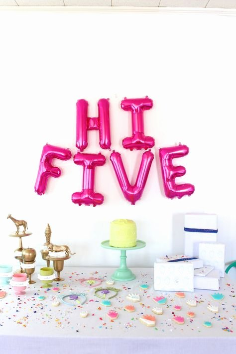 "5th Birthday Decoration Ideas Beautiful Making Life A Party ""hi Five "" Five Year Old Birthday Party"