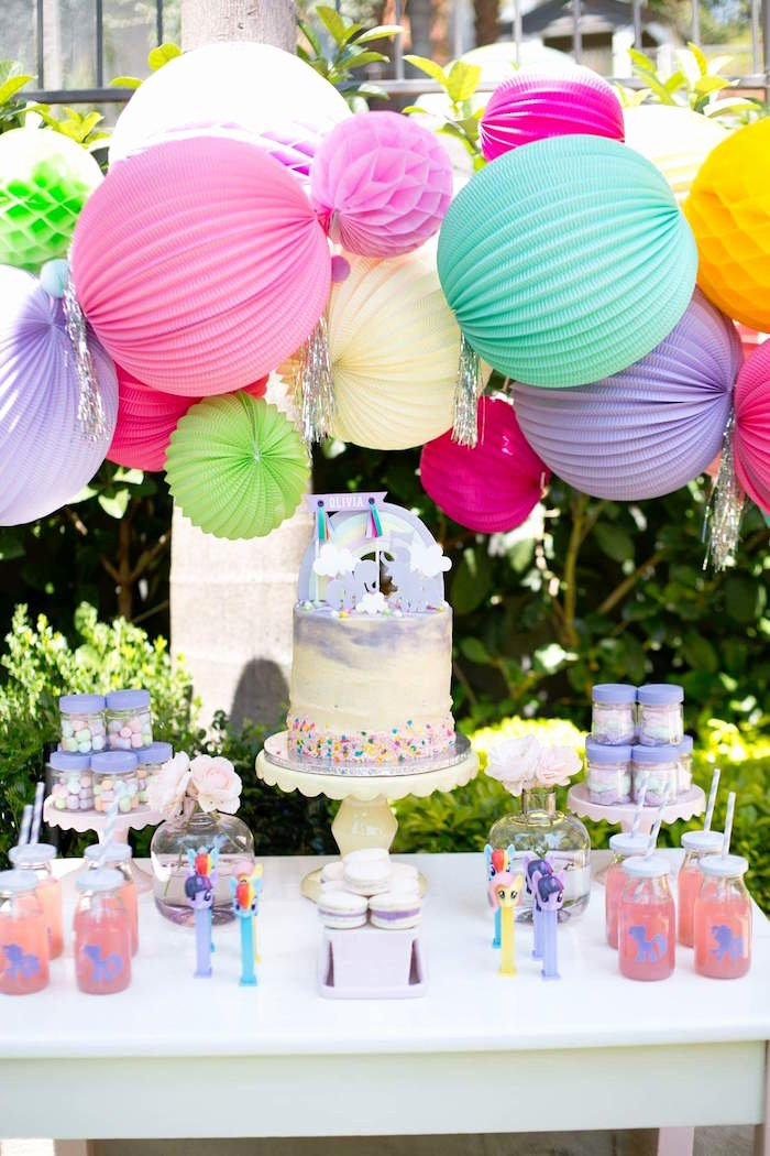 5th Birthday Decoration Ideas Best Of Kara S Party Ideas My Little Pony 5th Birthday Party