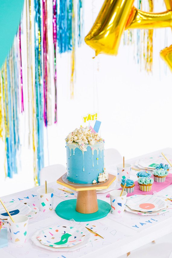 5th Birthday Decoration Ideas Inspirational Colorful Modern Food Fight 5th Birthday Party