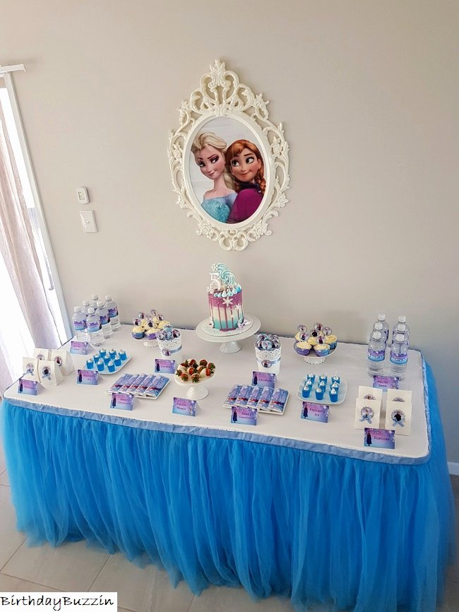 5th Birthday Decoration Ideas Lovely Frozen themed 5th Birthday Party Ideas