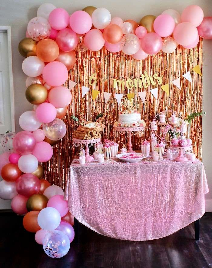 6 Months Birthday Decoration Ideas Fresh Sweet 6 Months Party Kara S Party Ideas