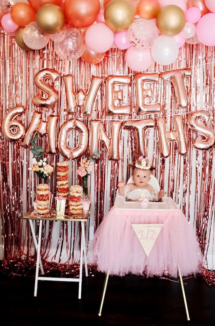 6 Months Birthday Decoration Ideas Lovely Sweet 6 Months Party Kara S Party Ideas
