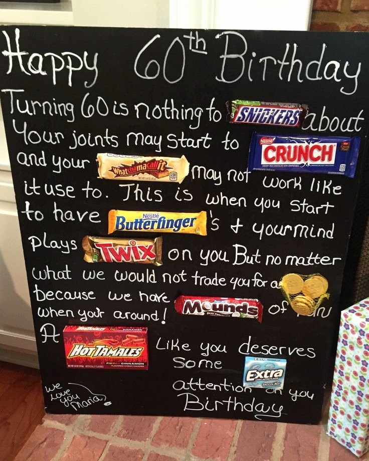 60 Year Old Birthday Decoration Ideas Unique Old Age Over the Hill 60th Birthday Card Poster Using Candy