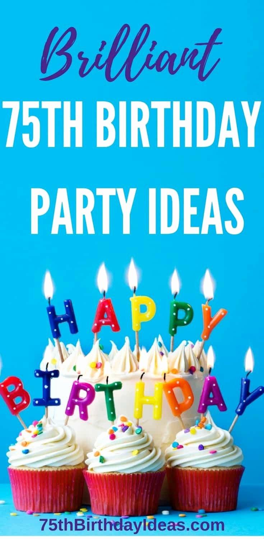 75th Birthday Decoration Ideas for Mom Luxury 75th Birthday Party Ideas