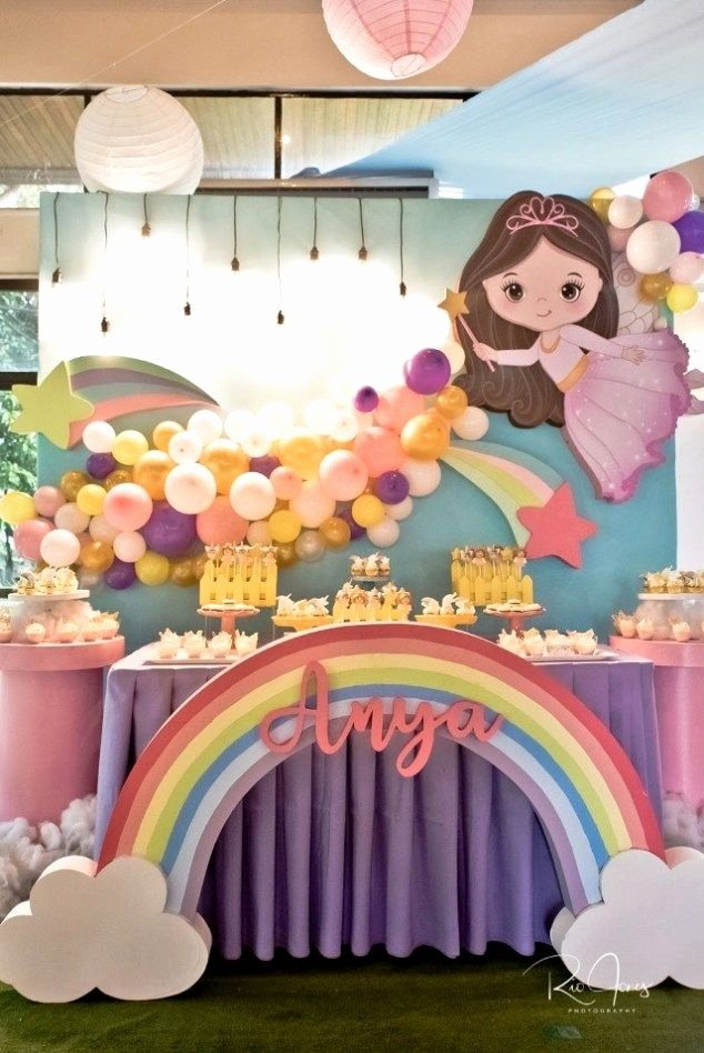 7th Birthday Decoration Ideas for Girl Beautiful Anya S Whimsical Fairies and Unicorns themed Party – 7th
