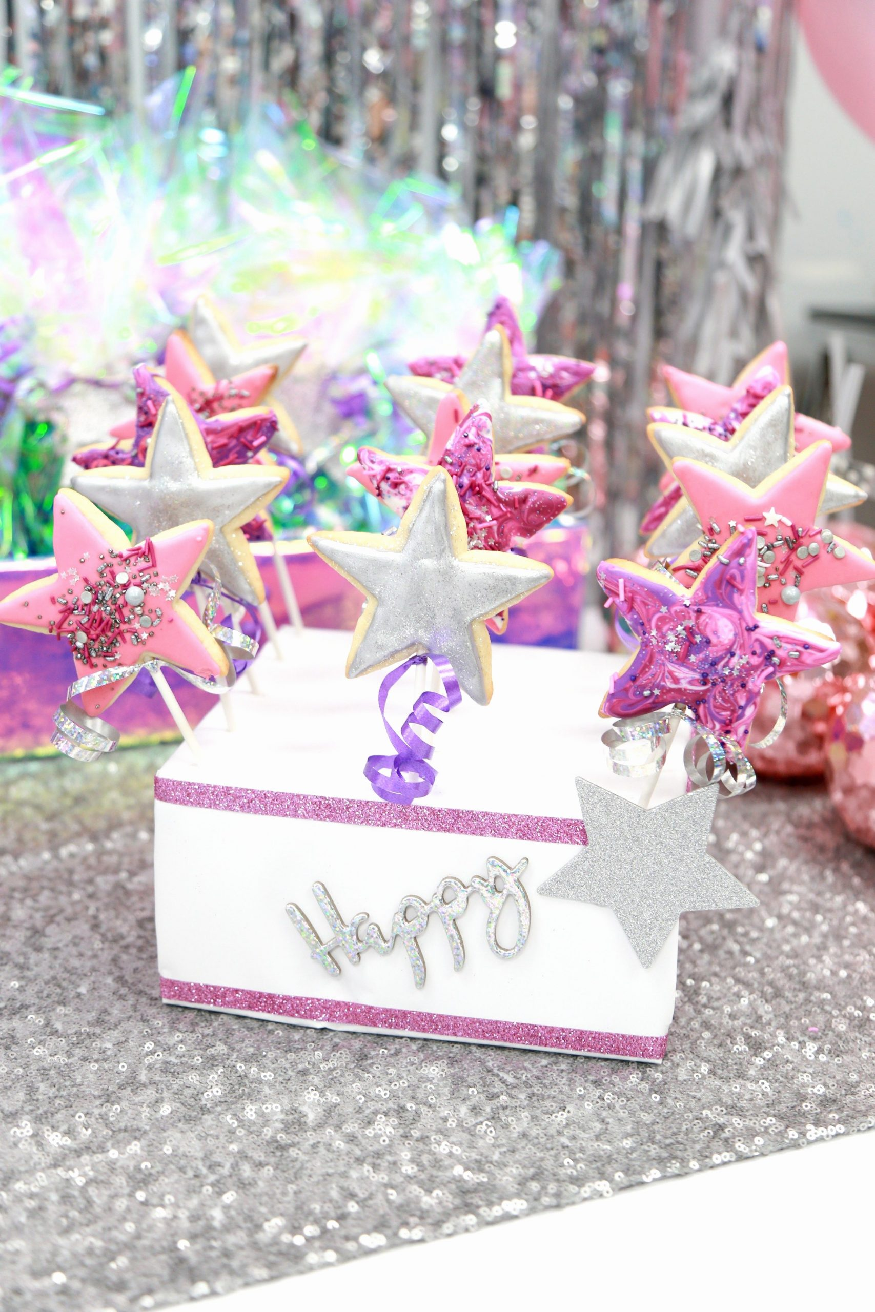 7th Birthday Decoration Ideas for Girl Unique 7th Birthday Party Girls Sparkle Disco Art Pink