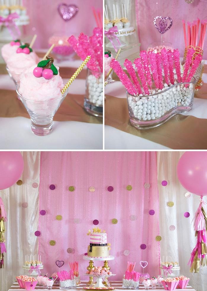 7th Birthday Decoration Ideas for Girl Unique Kara S Party Ideas Pink Hollywood Glam Party Planning Ideas
