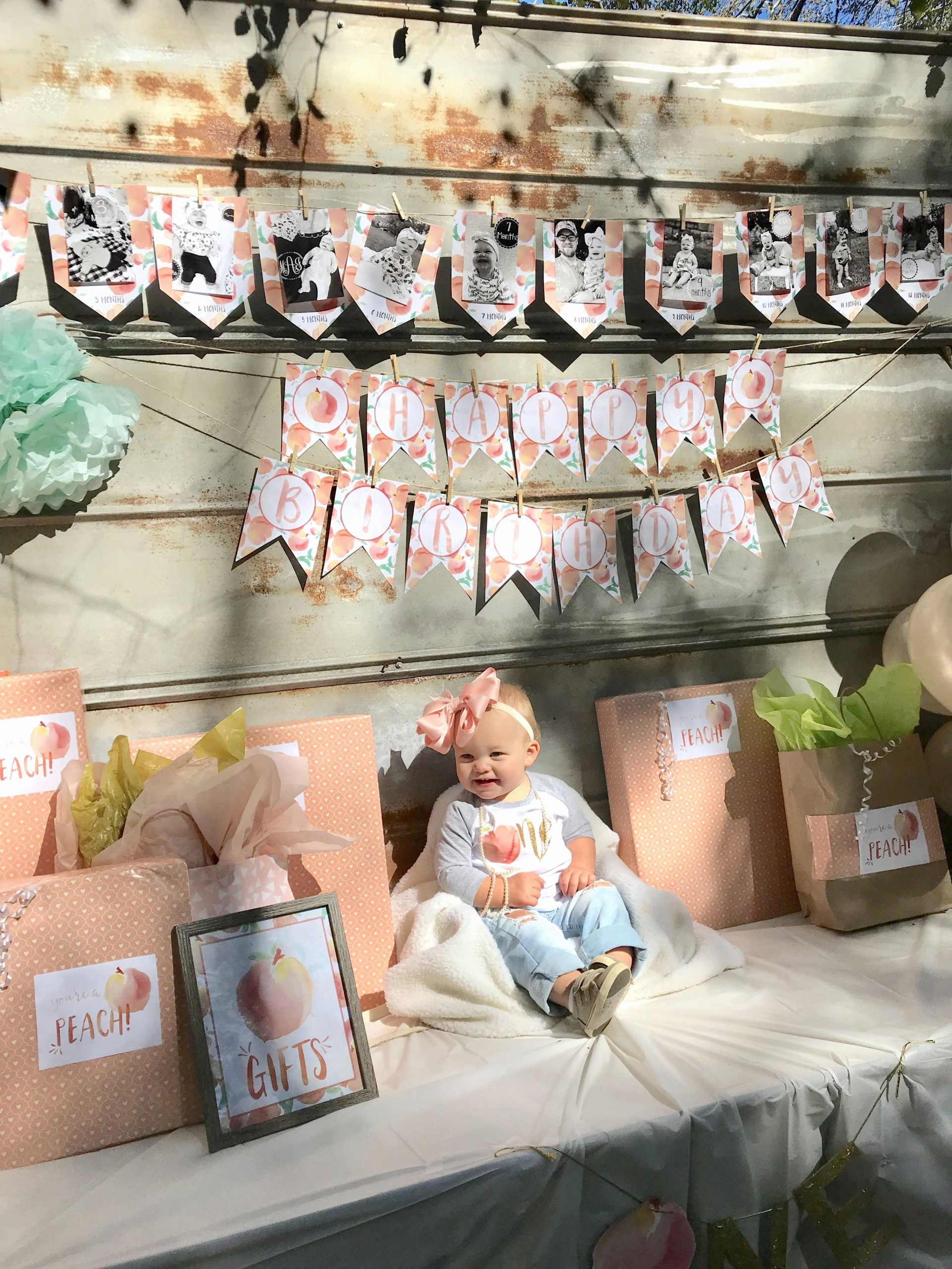 8 Month Birthday Decoration Ideas Unique Magnolia S Sweet as A Peach 1st Birthday Party 🍑