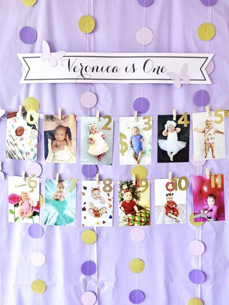 8 Month Birthday Decoration Ideas Unique Purple Spring Bloom Birthday Party Ideas