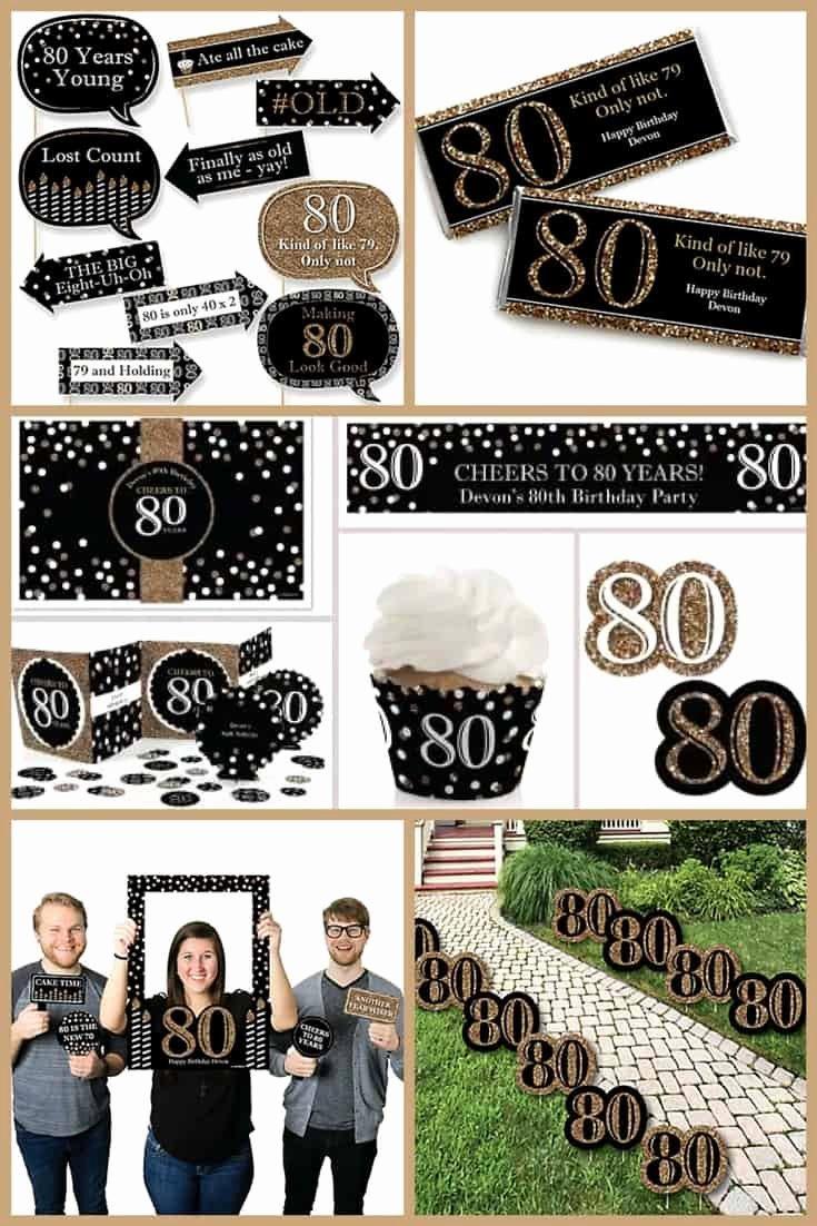 80th Birthday Decoration Ideas for Dad Fresh 80th Birthday Party Ideas the Best themes Decorations