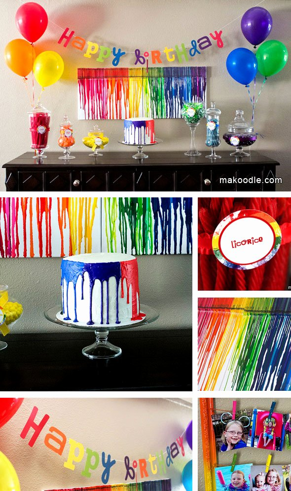 8th Birthday Decoration Ideas Inspirational Art Birthday Party Makoodle