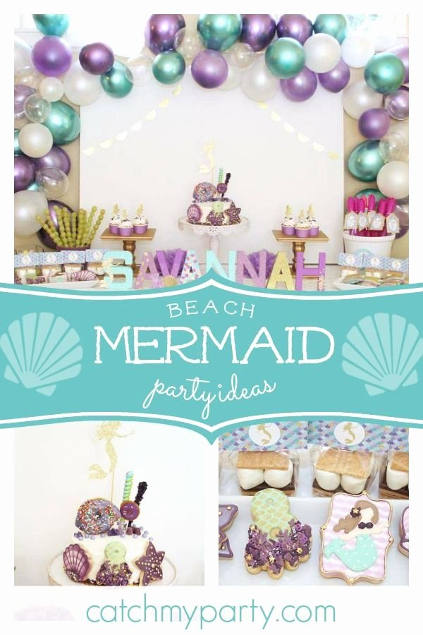 "8th Birthday Decoration Ideas Lovely Beach Mermaid Birthday ""savannah S 8th Birthday Let S Be"