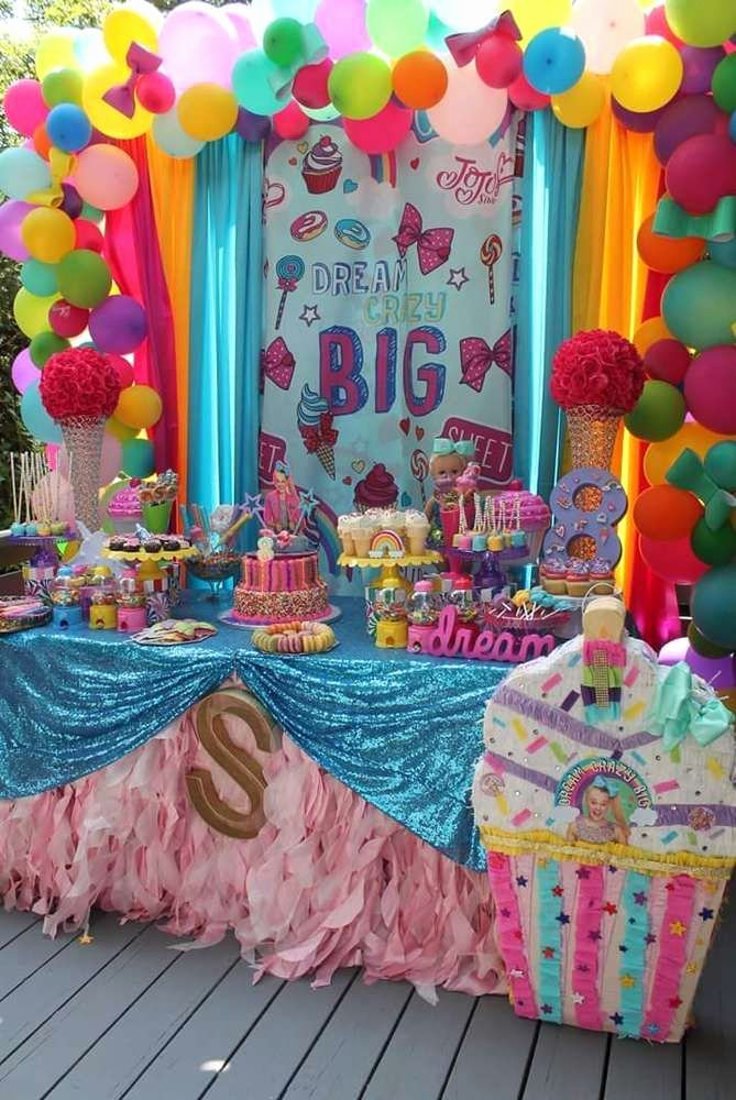 8th Birthday Decoration Ideas Lovely Jojo Siwa Birthday Party Ideas 10 Of 32