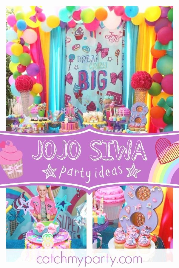 "8th Birthday Decoration Ideas Lovely Jojo Siwa Birthday ""sophie S Jojo Siwa 8th Birthday Party"