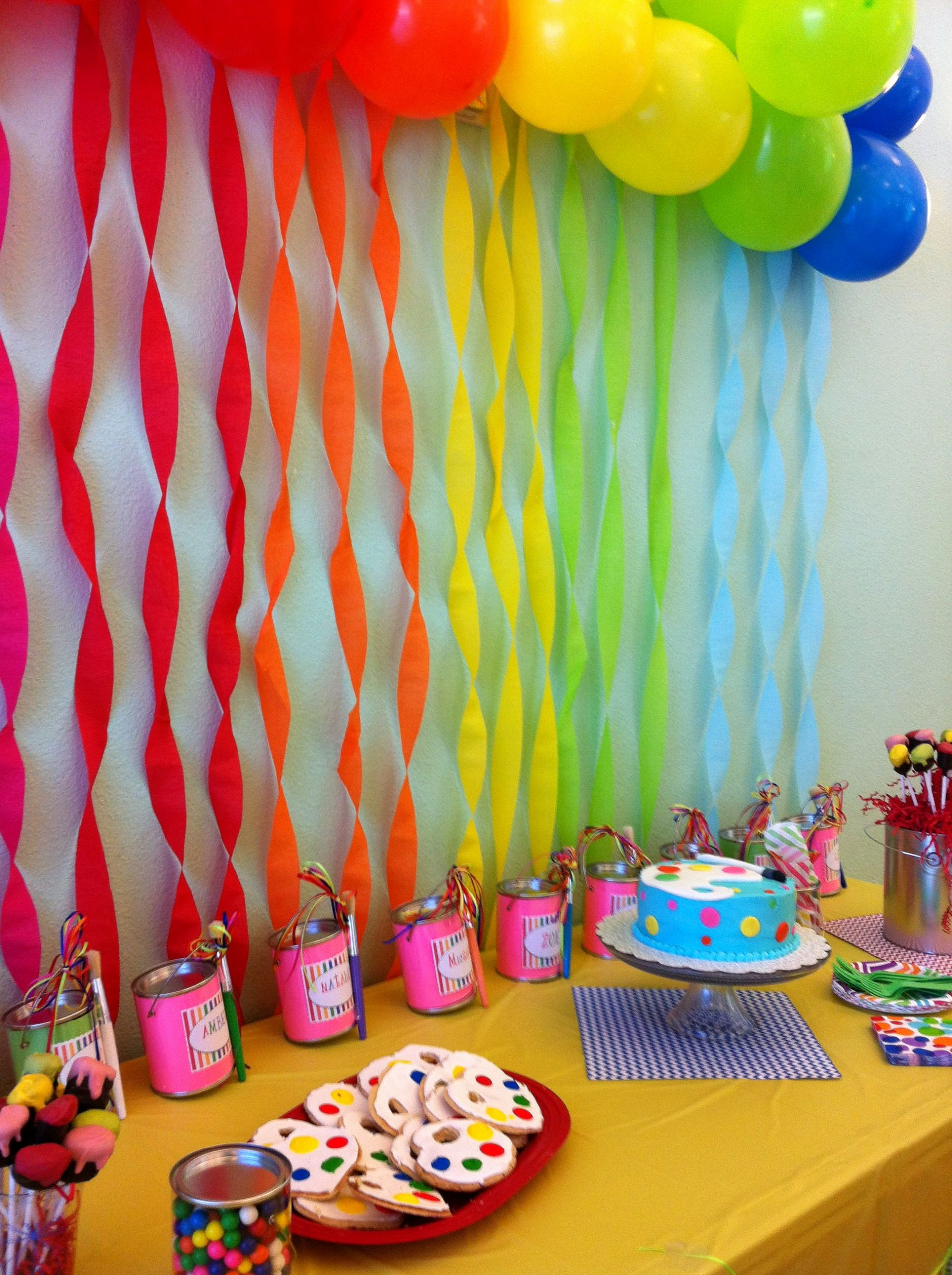 8th Birthday Decoration Ideas Unique 8 Year Old Girl Birthday Art Party