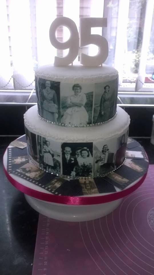 95th Birthday Decoration Ideas Luxury Photo Cake 95th Birthday