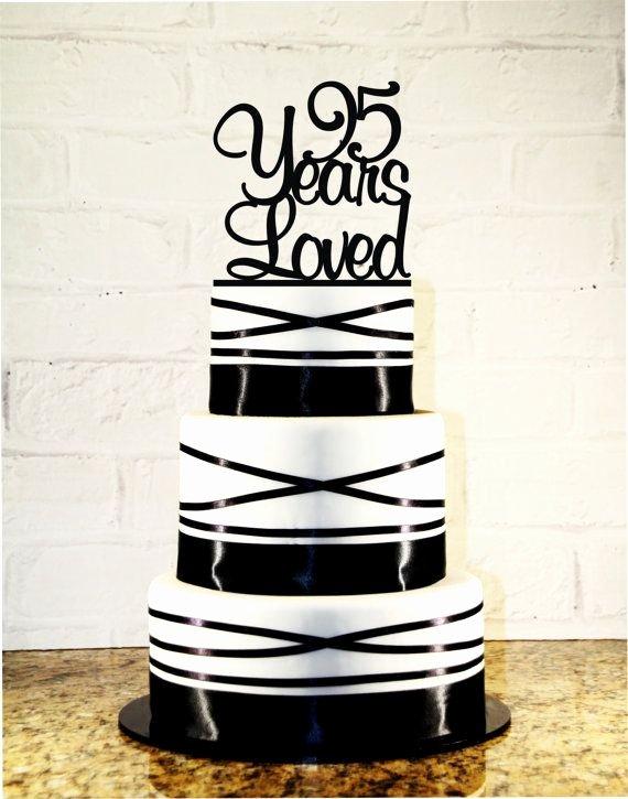 95th Birthday Decoration Ideas New 95th Birthday Cake topper 95 Years Loved Custom