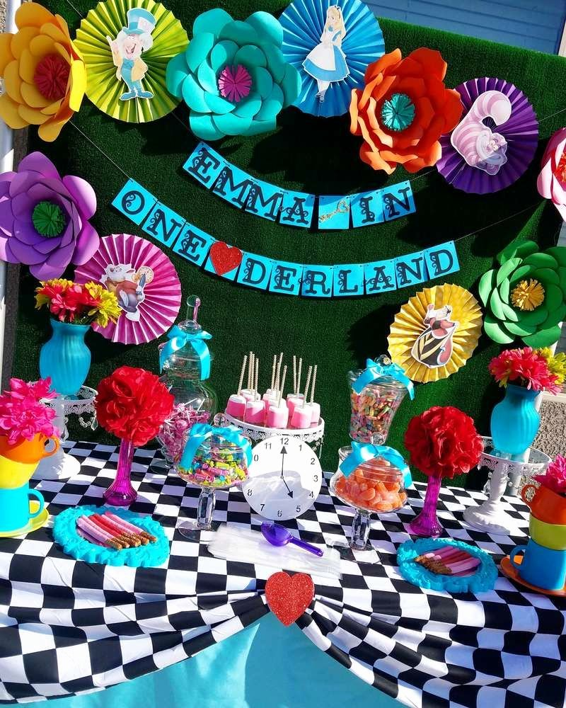 Alice In Wonderland Birthday Decoration Ideas Best Of Alice In Wonderland Birthday Party Ideas
