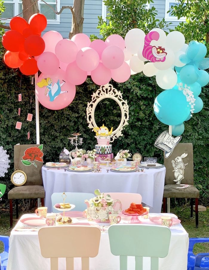 Alice In Wonderland Birthday Decoration Ideas Lovely Kara S Party Ideas Alice In Wonderland Birthday Tea Party