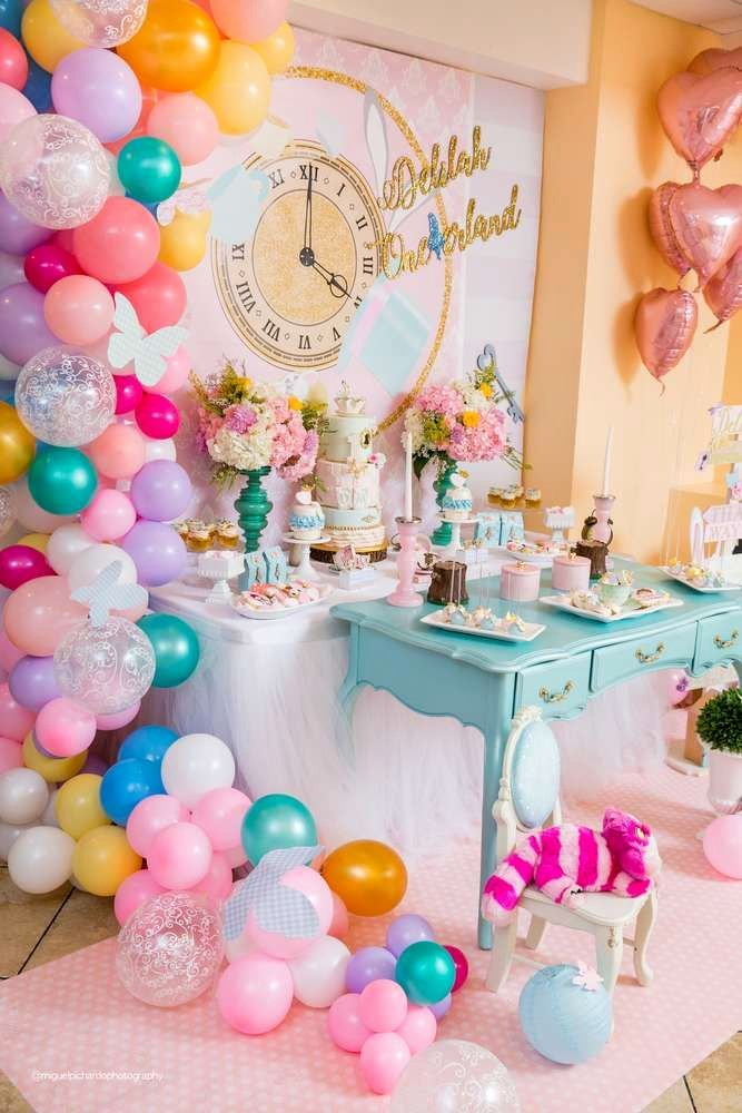 Alice In Wonderland Birthday Decoration Ideas New Alice In Wondernlad Birthday Party Ideas