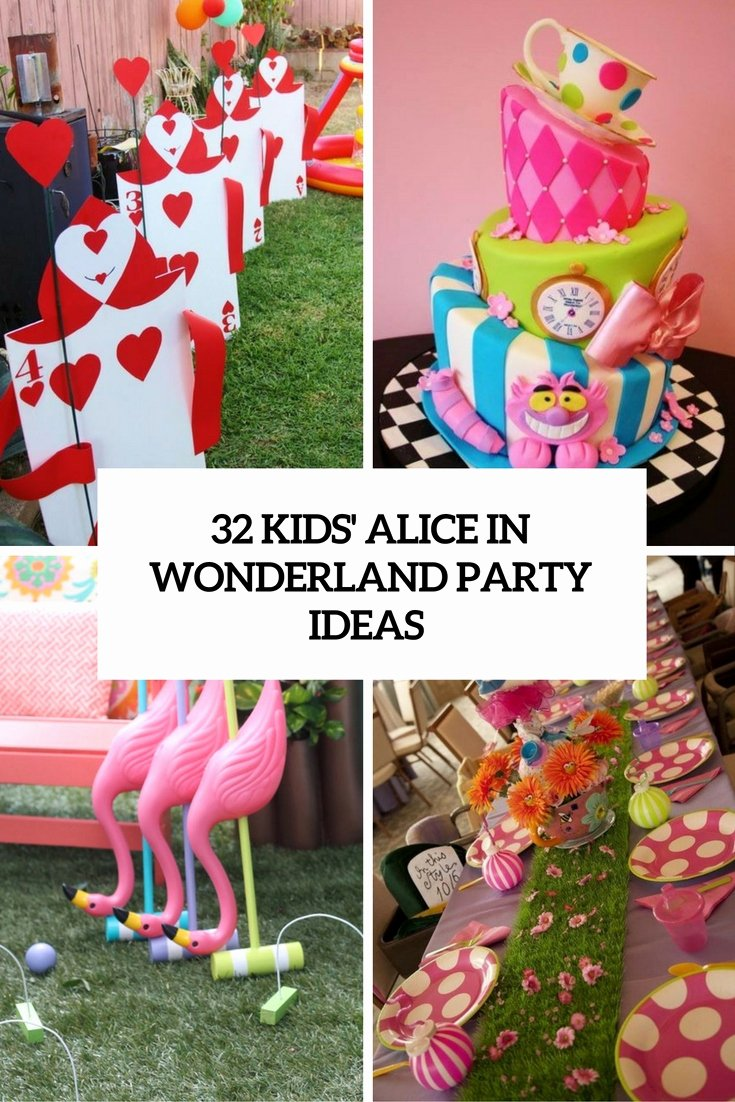 Alice In Wonderland Birthday Decoration Ideas Unique 32 Kids Alice In Wonderland Party Ideas Shelterness