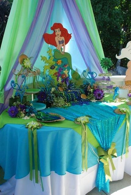 "Ariel Birthday Decoration Ideas Awesome Little Mermaid Birthday "" Little Mermaid """