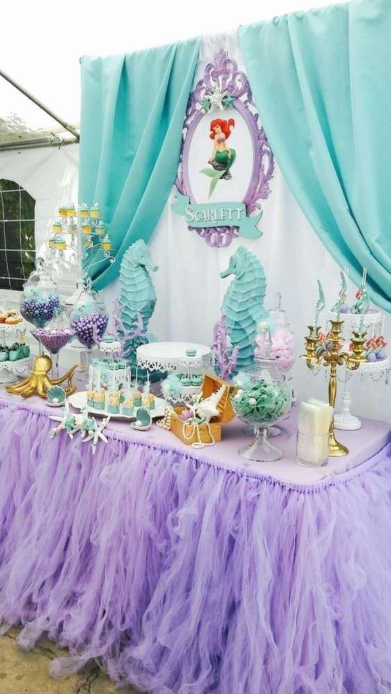 Ariel Birthday Decoration Ideas Elegant Little Mermaid Birthday Decorations Contemporary Captures