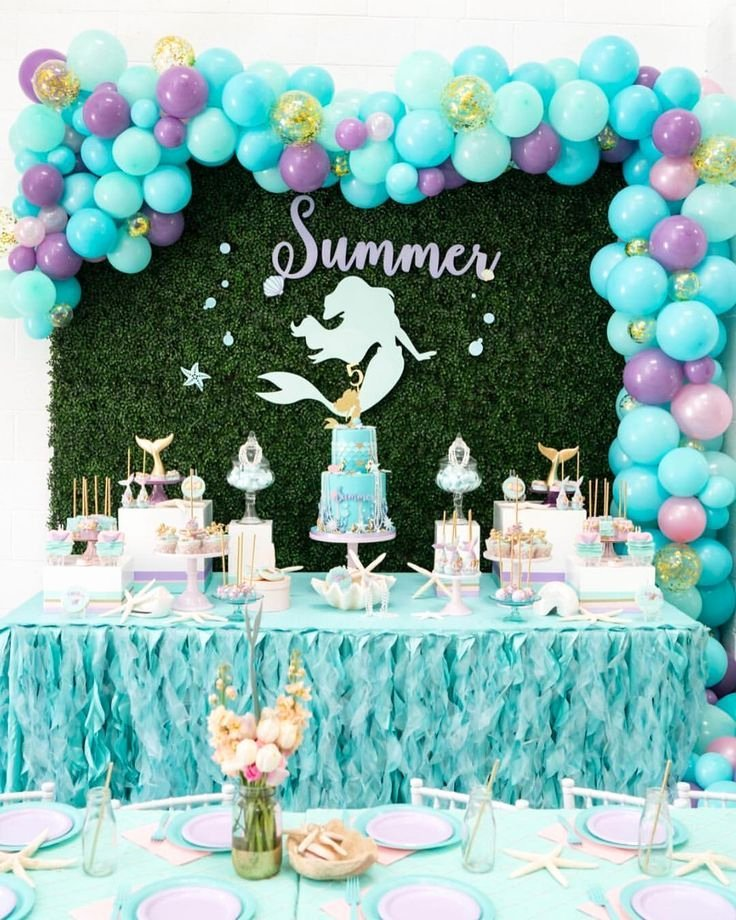 Ariel Birthday Decoration Ideas Fresh Mermaid Party for the Sweetest Little Birthday Girl Summer