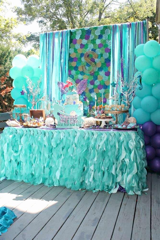 Ariel Birthday Decoration Ideas Luxury Mermaids Ariel Pirates Birthday Party Ideas