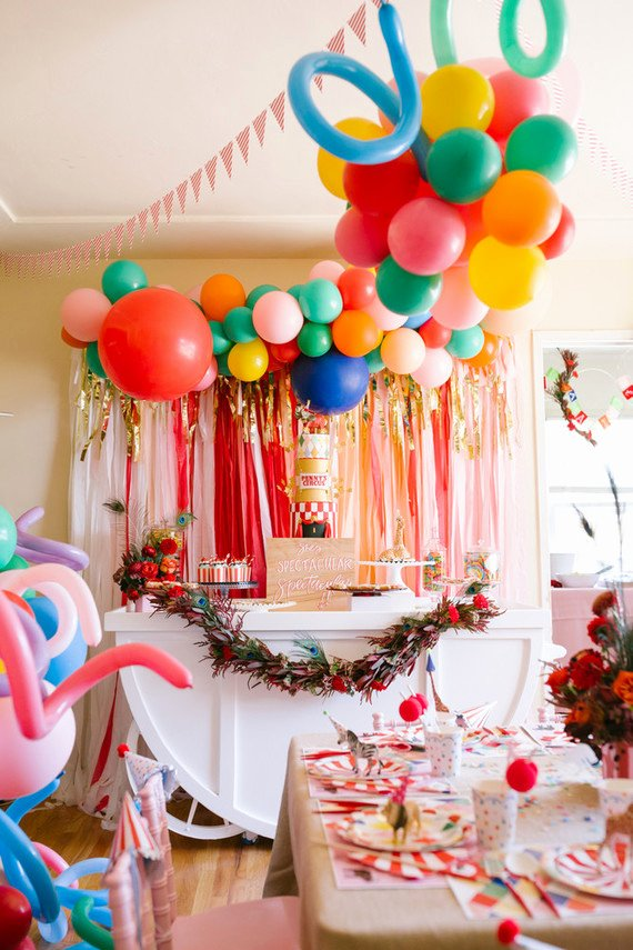 At Home Birthday Decoration Ideas Best Of Colorful Circus themed 1st Birthday Party at Home 100