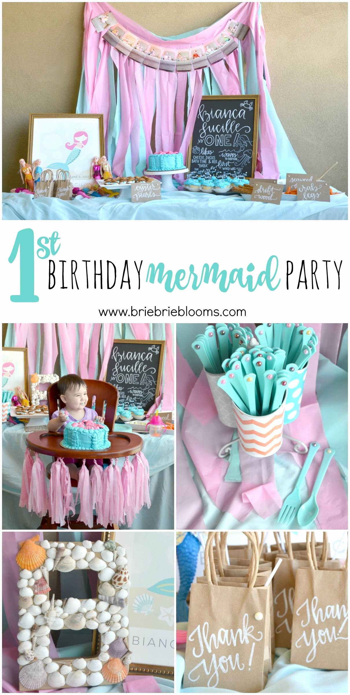 Baby 1st Birthday Decoration Ideas Elegant This First Birthday Mermaid Party is Beautiful the