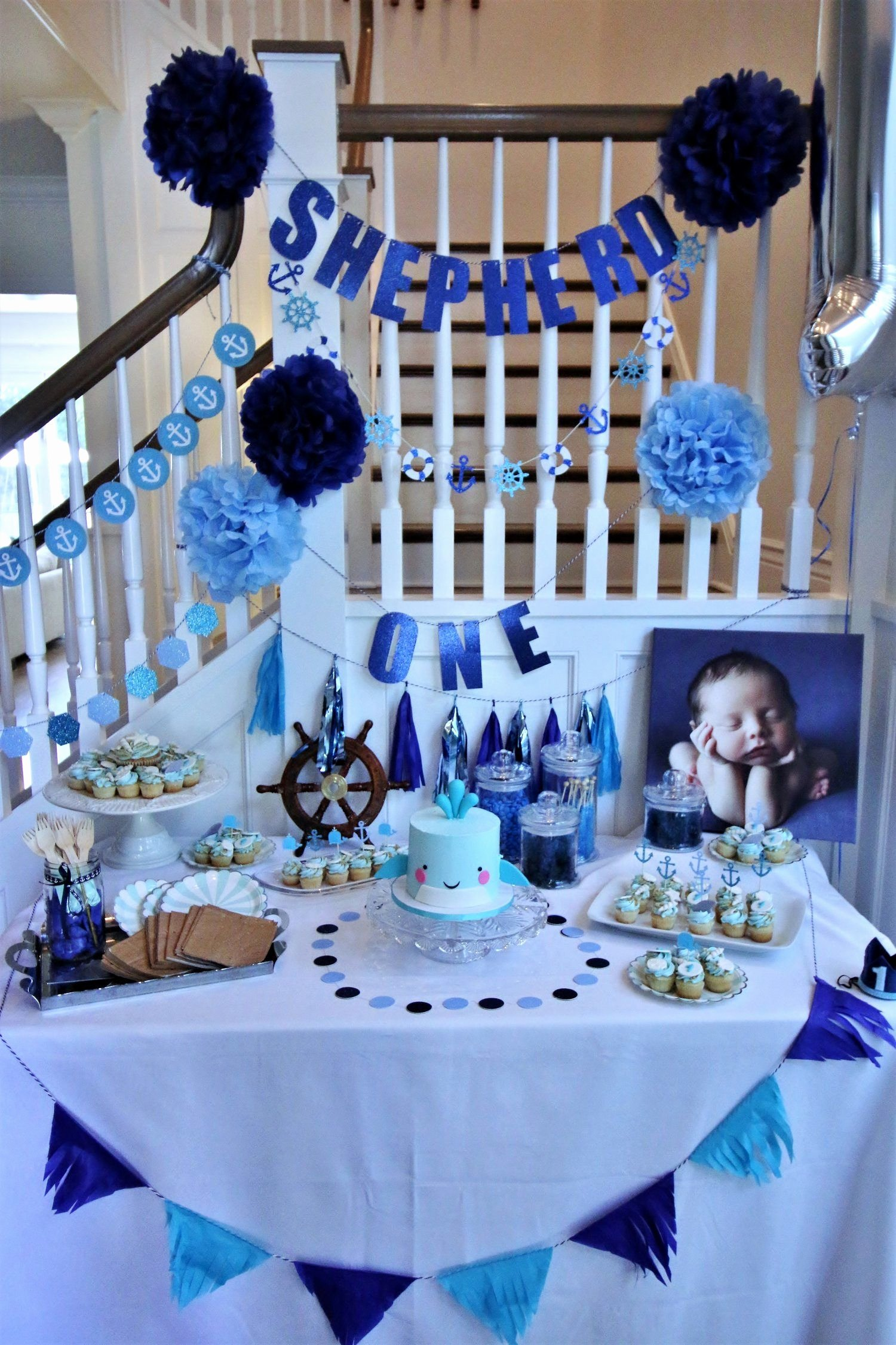 Baby 1st Birthday Decoration Ideas Luxury Baby Shepherd S First Birthday More at