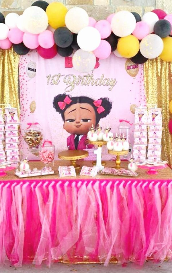 Baby 1st Birthday Decoration Ideas Luxury Boss Baby Birthday Party Ideas 2 Of 11