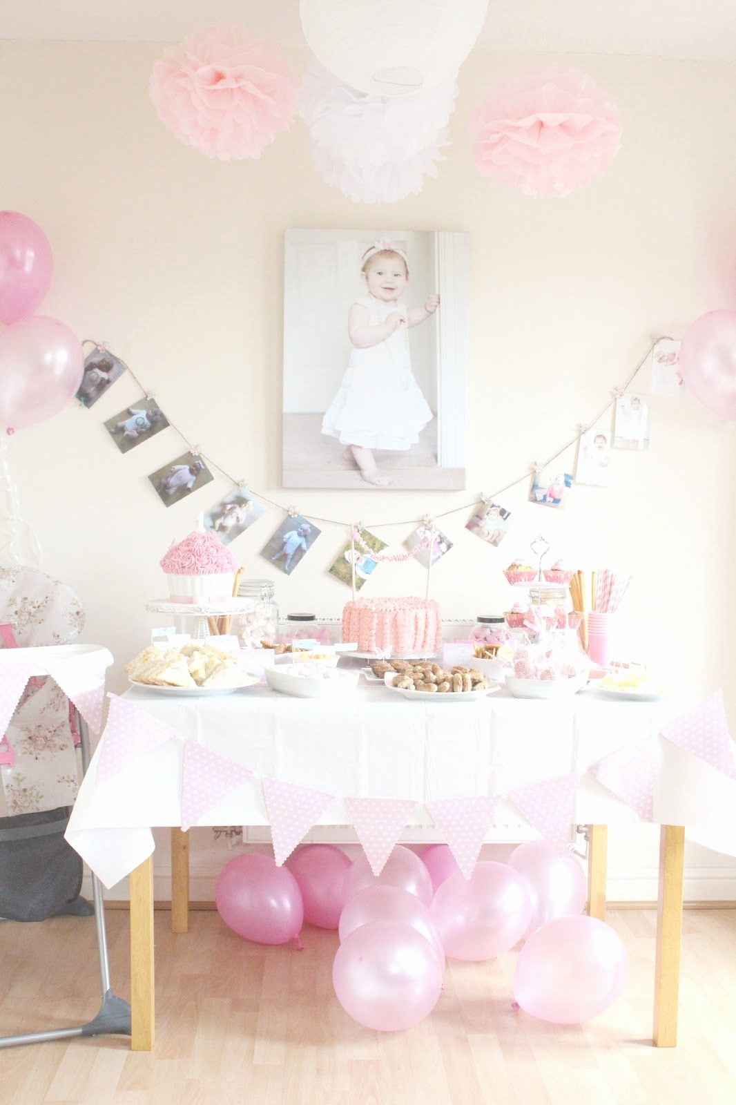 Baby Birthday Decoration Ideas at Home Lovely First Birthday Party & Decor Vintage Princess Inspired