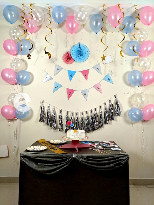 Baby Birthday Decoration Ideas at Home Unique Baby Shower Decoration at Home