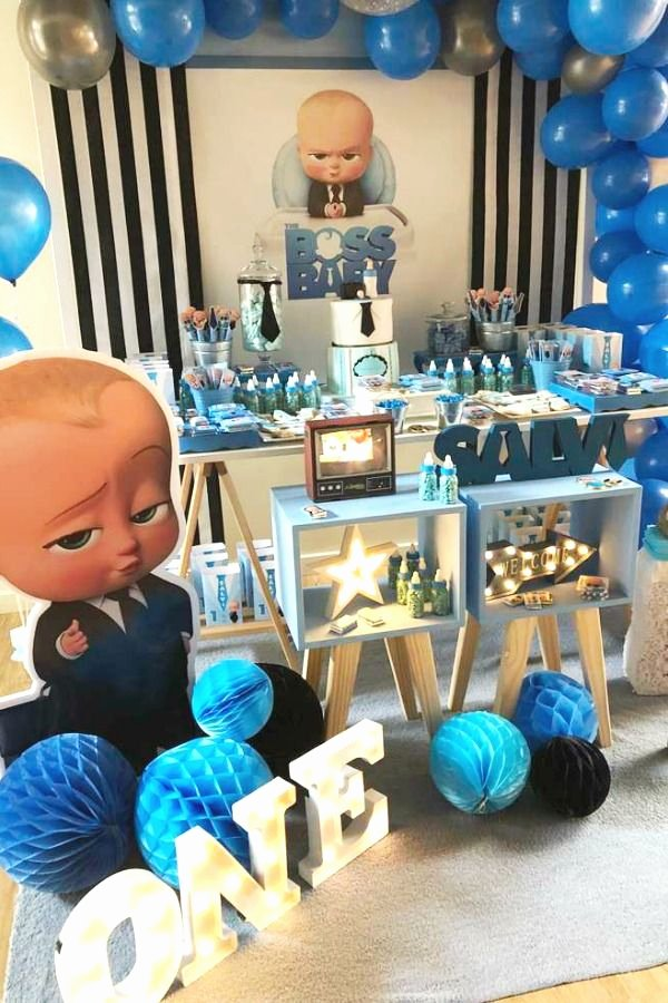 Baby Boy 1st Birthday Decoration Ideas at Home Luxury the Movie and Tv Show Boss Baby is so Much Fun and the