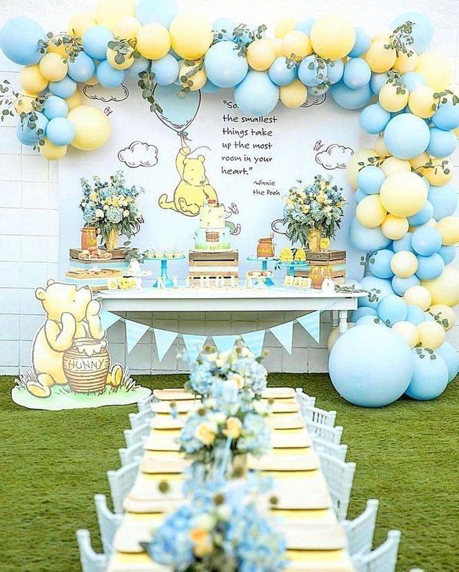 Baby Boy Birthday Decoration Ideas at Home Awesome Centerpiece Ideas for Baby Boy Birthday Simple Decoration
