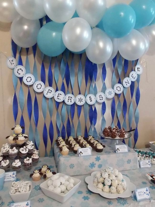 Baby Boy Birthday Decoration Ideas at Home Fresh Boy S Winter Wonederland 1st Birthday Party
