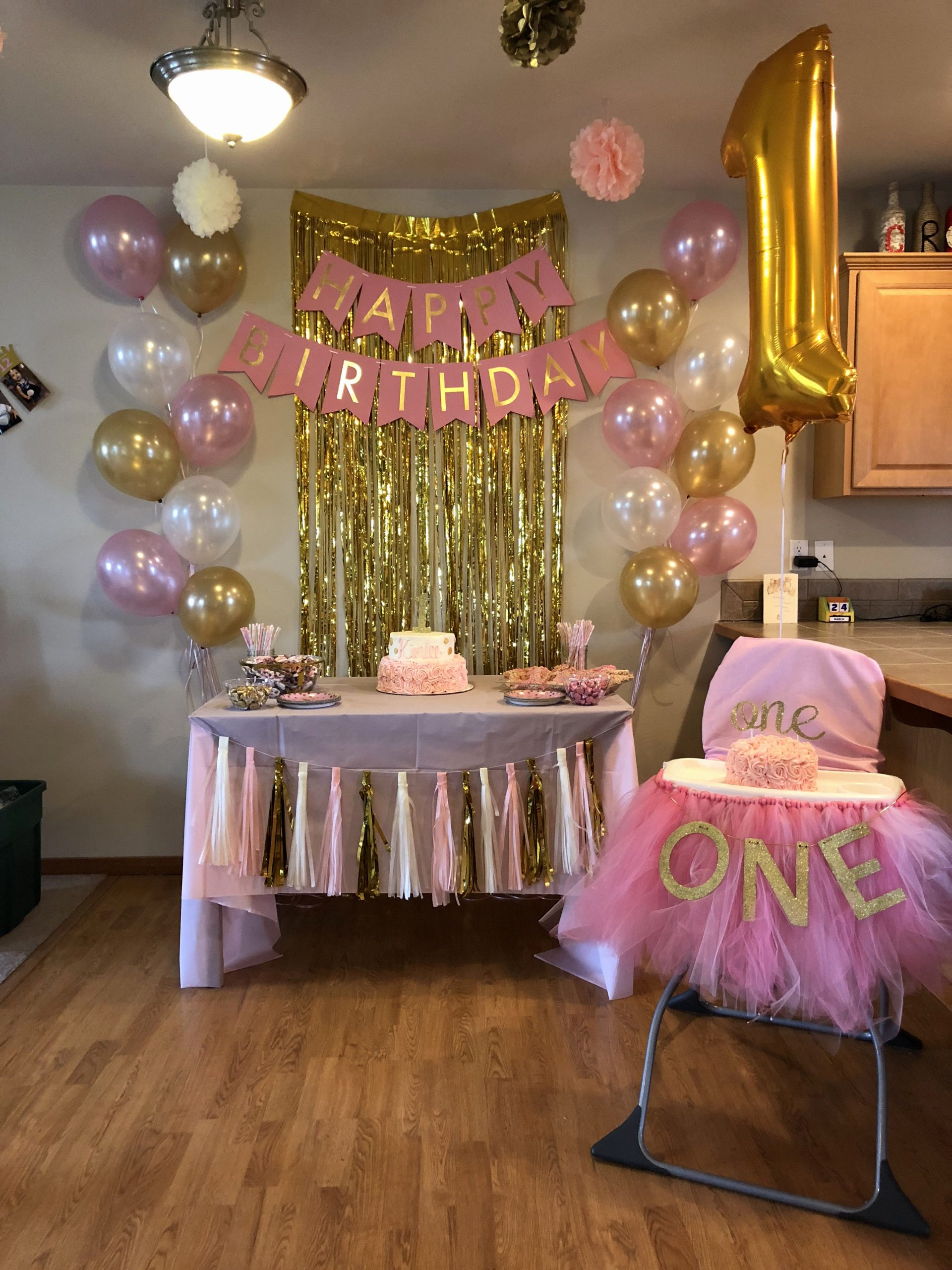 Baby Girl Birthday Decoration Ideas at Home Awesome 1st Birthday Ideas