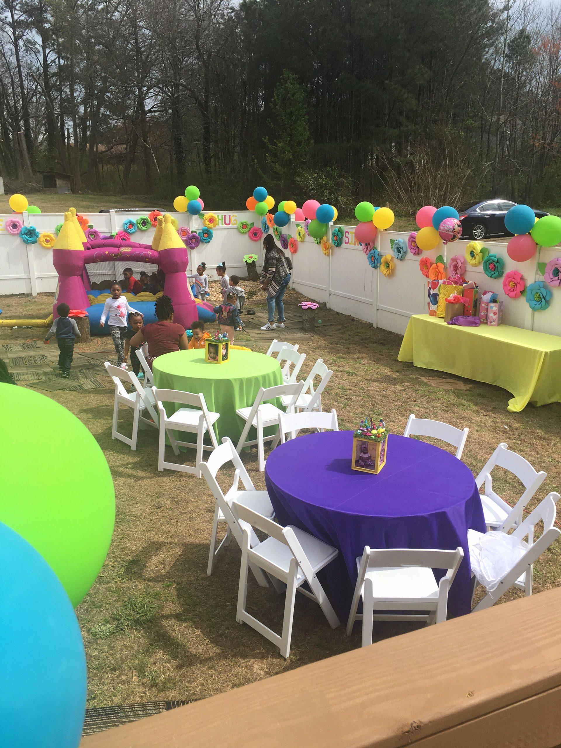 Backyard Birthday Decoration Ideas Fresh Backyard Trolls Birthday Party
